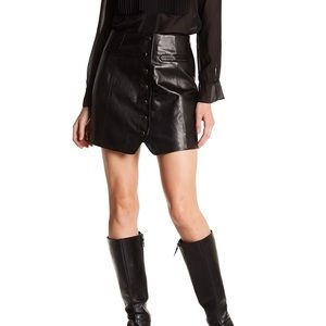 NWOT Rachel Zoe genuine leather mini skirt 6